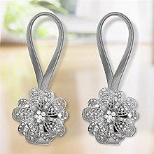 Gaddrt® 1 Pair Magnetic Crystal Curtain Tiebacks