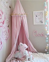 Gaddrt 1 Panel Baby Bed Curtain Cotton Linen Round