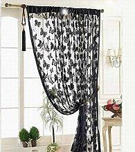 Gaddrt® 1 Panel Butterfly Pattern Window Curtain