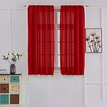 Gaddrt 1 Panel Fabric Window Curtain Smooth Leaves