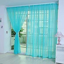 Gaddrt® 1 Panel Pure Color Tulle Door Window