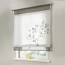Gaddrt® 1 Panel Roman Window Curtain Blinds