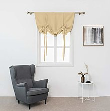 Gaddrt® 1 Panel Tie Up Roman Curtain, Thermal