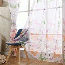 Gaddrt® 1 Panel Window Curtain Butterfly Sheer