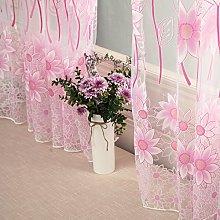 Gaddrt® 1 Panel Window Curtain Floral Tulle Voile