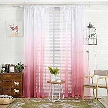 Gaddrt® 1 Panel Window Curtain Gradient Sheer