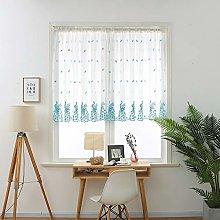 Gaddrt® 1 Panel Window Curtain Leaves Sheer