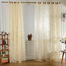 Gaddrt 1 Panel Window Curtain Solid Drape Window