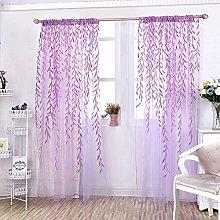 Gaddrt® 1 Panel Window Curtain Willow Voile Tulle