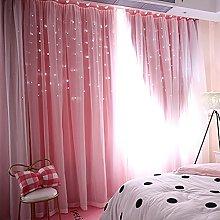 Gaddrt® 1 Panel Window Roman Curtain, Starry Sky