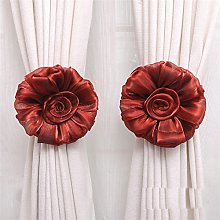 Gaddrt® 1Pair Cotton Rose Flower Window Curtain