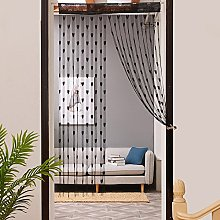 Gaddrt® 1Pcs 50x200cm Window Curtain Love Heart