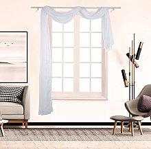 Gaddrt® 1Pcs Window Curtain Voile Curtain Swags