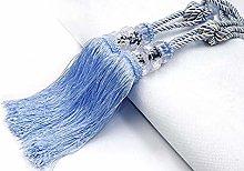 Gaddrt® 2Pcs Curtain Tiebacks, Crystal Beaded