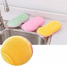 Gaddrt 3Pcs Cloth Fiber Washing Towel Magic