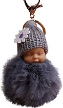 Gaddrt 8cm Pompom Cute Fur Fluffy Sleeping Baby