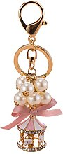 Gaddrt Alloy Exquisite Pearl String Carousel Key