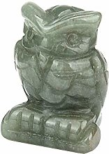 Gaddrt  Hand Carved Owl Ornament Jade Gemstone