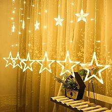 GADDRT LED Stars Christmas Hanging Curtain Lights