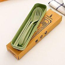 Gaddrt Portable Wheat Straw Chopsticks + Spoon +