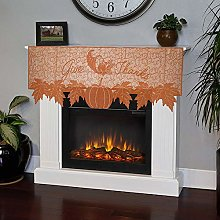 Gaddrt Pumpkin Lace Table Toppers Fireplace Cloth