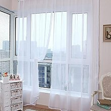 Gaddrt Pure Color Tulle Door Window Curtain Drape