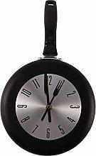 Gaetooely Wall Clock Metal Frying Pan Design 8