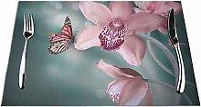 GAHAHA Placemats Dinner Coaster Butterflies