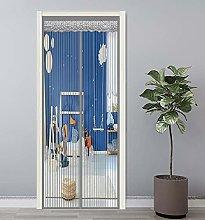 GAIJUAN Magnetic Door Screen 70x200cm Curtains Fly