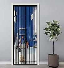 GAIJUAN Magnetic Screen Door 90x200cm Insulated