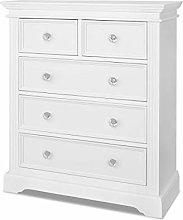 Gainsborough White 2 over 3 Chest of Drawers.