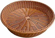 GAKIN 1 Pc Wicker Woven Round Storage Basket Bread