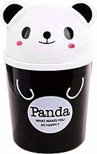 GAKIN 1Pc Cute Panda Mini Desktop Bin Swing Top