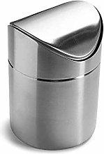 GAKIN 1Pc Stainless Steel Desktop Trash Creative