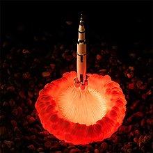 Galapara 3D Print Rocket Lamp, 28cm Space Shuttle