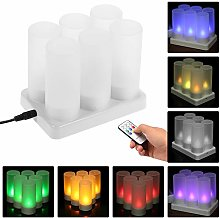 Galapara 6pcs Candles Lights with Remote Control,