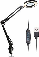 Galapara LED Magnifying Lamp, Adjustable 8X