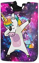 Galaxy Dabbing Unicorn Large Laundry Basket Nebula