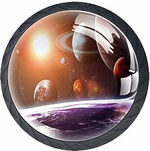 Galaxy Drawer Pulls Handle, Space Theme View of