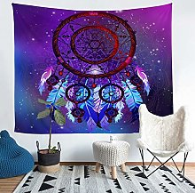 Galaxy Dreamcatcher Wall Tapestry Boho Feather