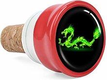 Galaxy Green Fire Dragon Wine Cork Wine Bottle