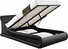 Galaxy King Size Ottoman Bed, Black