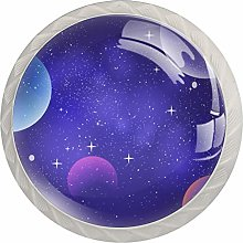 Galaxy Purple Starry Sky Kitchen Cabinet Knobs 4