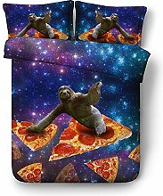 Galaxy Sloth Animal Duvet Cover Set 2 Persons,