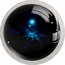 Galaxy Space Blue White Drawer Handles Furniture