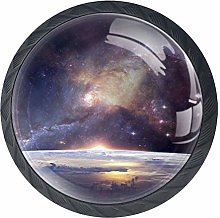 Galaxy Space Landscape Cabinet Door Knobs Handles