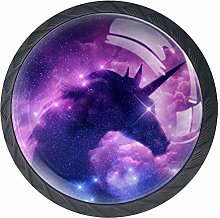 Galaxy Space Unicorn Cabinet Door Knobs Handles