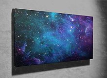 Galaxy Stars Abstract Space Photo Canvas Print