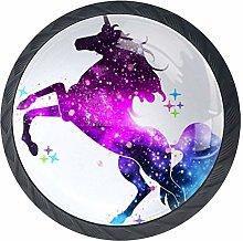 Galaxy Unicorn Cabinet Dresser Drawer Knobs Glass