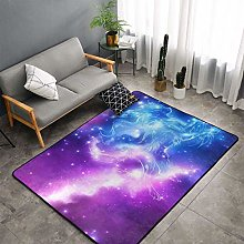 Galaxy Wolf Kitchen Rug, Bedroom Living Room